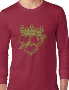 Three Hearts Crown &  Dagger Long Sleeve T-Shirt