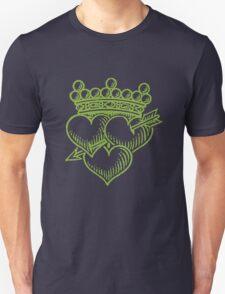 Three Hearts Crown &  Dagger T-Shirt