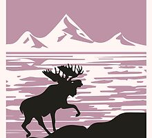 Alaska Denali National Park Poster by Adam Asar