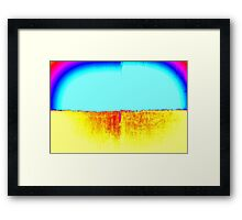 Modern Abstract Art Titled: Planet Venus  Framed Print
