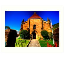 Convict Stone - The Garrison Church - The Rocks - The HDR Series Art Print