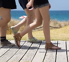 on the boardwalk by Anne Scantlebury