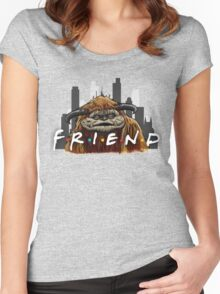 He'll Be There For You  Women's Fitted Scoop T-Shirt