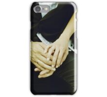 Wedding couple bride groom holding hands analogue film photography iPhone Case/Skin