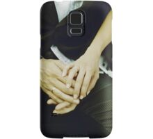 Wedding couple bride groom holding hands analogue film photography Samsung Galaxy Case/Skin