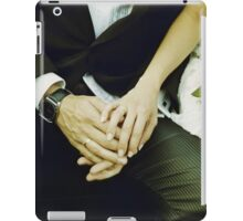 Wedding couple bride groom holding hands analogue film photography iPad Case/Skin