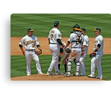 Meeting on the Mound Canvas Print