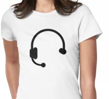 Headset headphones Womens Fitted T-Shirt