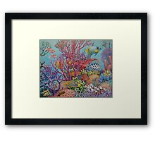 South Sea Reef Framed Print
