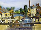 225 - GRAND UNION CANAL, STOKE BRUERNE - OILS -   by BLYTHART