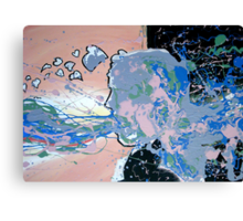 Abstract Self Portrait Canvas Print