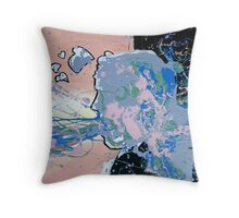 Abstract Self Portrait Throw Pillow