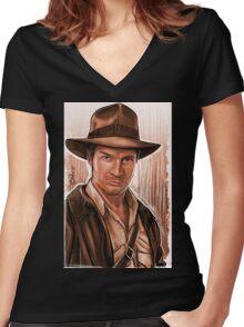 Indiana Fillion Women's Fitted V-Neck T-Shirt