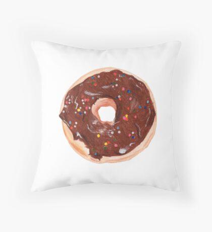 Chocolate donut Throw Pillow