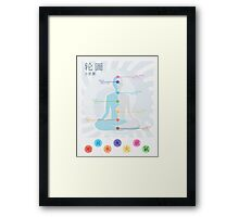 Air Nomad Chakra Guide Framed Print