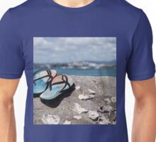 jandals at the beach Unisex T-Shirt