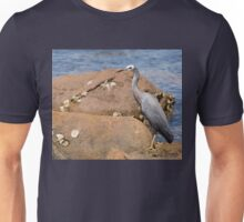 heron at the beach Unisex T-Shirt