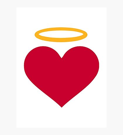 Red heart halo Photographic Print