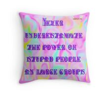 The Power of Stupid People Throw Pillow