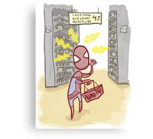 Spider-sense is Shopp-ling? Canvas Print