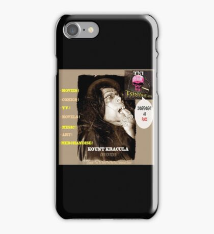 Title: Kount Kracula Review Showcase TV Show Promo Poster Art #2 -Hollyweird, Toronto, Canada iPhone Case/Skin