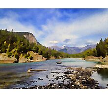 Bow River Row Boat Photographic Print