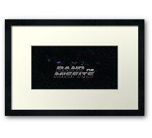 Band of Misfits Black Logo Framed Print
