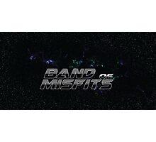 Band of Misfits Black Logo Photographic Print