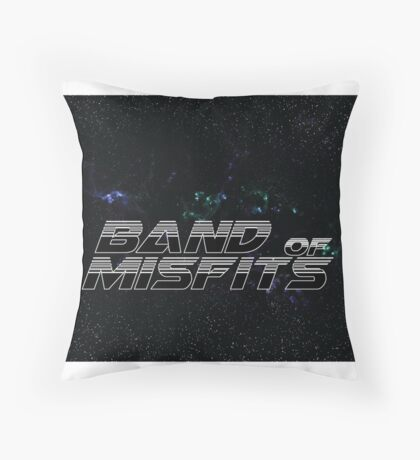Band of Misfits Black Logo Throw Pillow