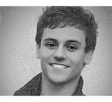 Drawing - Tom Daley handsome smile Photographic Print