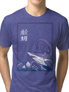 Sharktopus and the Great Wave Tri-blend T-Shirt