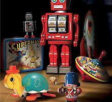 Vintage Robot & Friends by dalbert