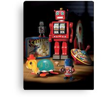 Vintage Robot & Friends Canvas Print