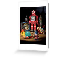 Vintage Robot & Friends Greeting Card