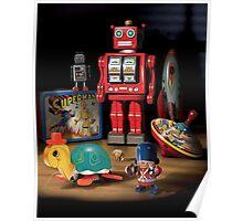Vintage Robot & Friends Poster