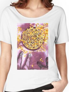 yellow leaves on the sidewalk Women's Relaxed Fit T-Shirt