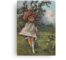 Little Girl At Play-Available As Art Prints-Mugs,Cases,Duvets,T Shirts,Stickers,etc Canvas Print