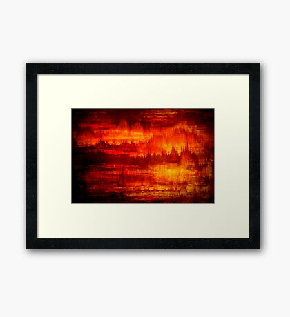 Original Abstract Modern Art Titled: Time Marching  Framed Print