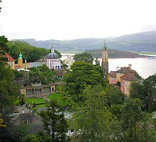 Portmeirion Village by Angela Harburn