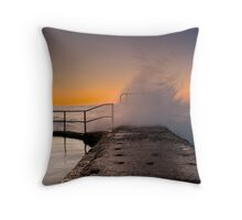 Holding back the water_2 Throw Pillow