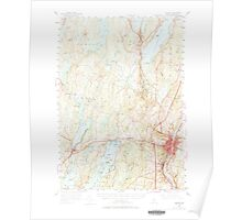 Maine USGS Historical Map Augusta 460136 1956 62500 Poster