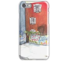 stained red wall iPhone Case/Skin