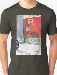 stained red wall Unisex T-Shirt