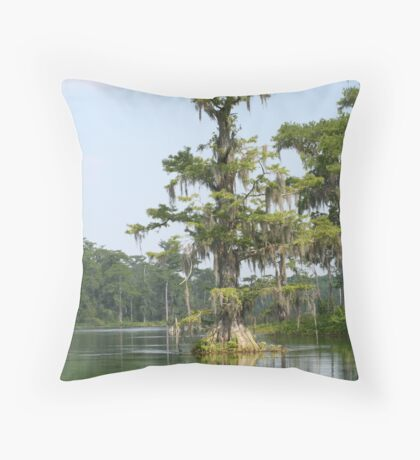 Cypress Tree Throw Pillow