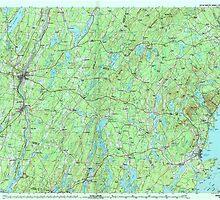 Maine USGS Historical Map Augusta 806470 1984 100000 by wetdryvac