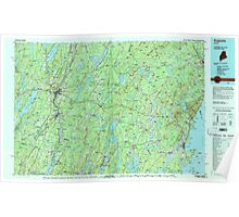 Maine USGS Historical Map Augusta 806470 1984 100000 Poster
