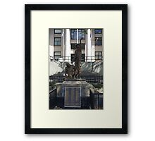 Military Statue Framed Print