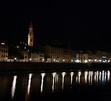 Arno a notte by Michael Lane