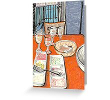 greek mezze Greeting Card