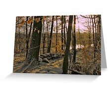 A New England Winter Morning Greeting Card